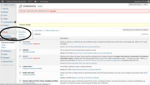 Où trouver Wysija Newsletter dans la Barre de menu de l'administration de WordPress