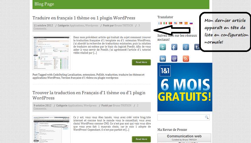 Mettre 1 article en vedette avec WordPress en 30 secondes