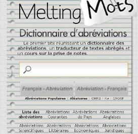 Dictionnaire des abréviations: MeltingMots