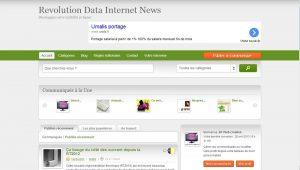Revolution Data Internet News: site de communiqués en ligne!