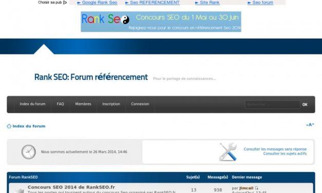 Concours SEO 2014 sur le forum RankSeo.fr