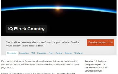 Traduction en français du plugin WordPress Iq Block Country