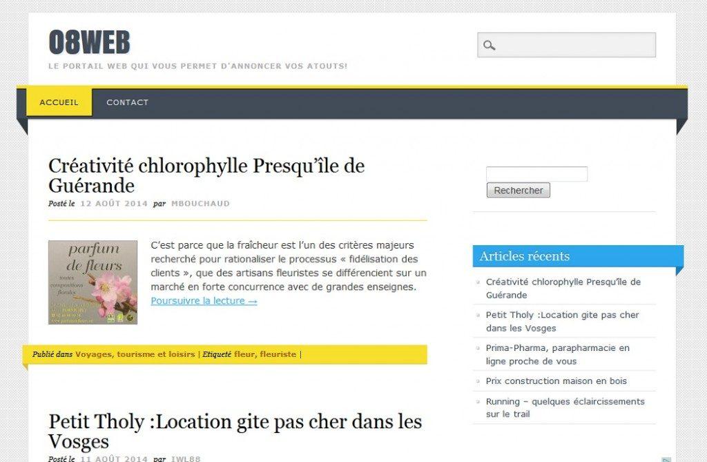 08web.fr utilise le thème Living Journal traduit par Bruno Tritsch