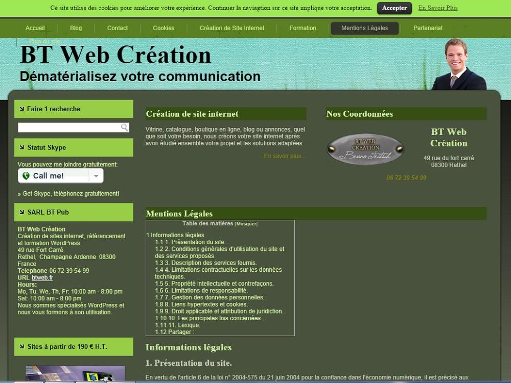 Exemple de table des matières ou sommaire automatiquement affiché par le plugin WordPress Table Of Content sur les pages et articles.