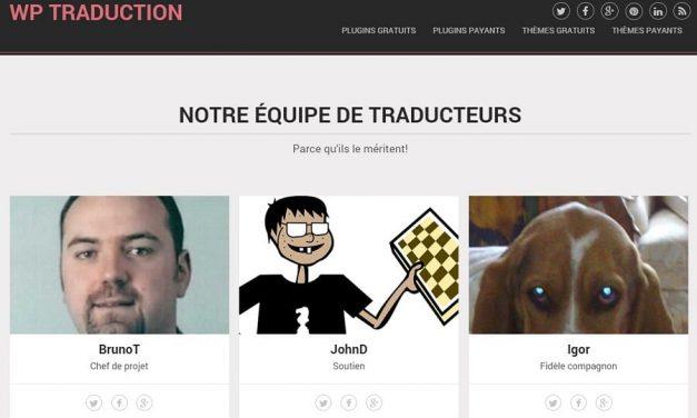 Site de traductions en français de thèmes ou plugins WordPress
