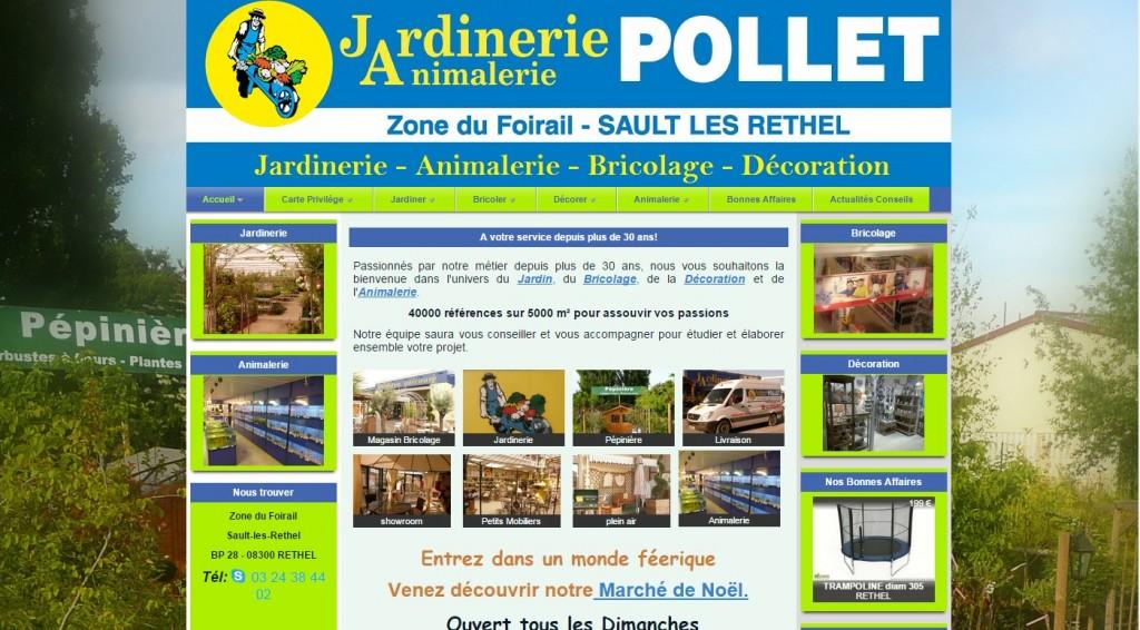 Création du site web de la Jardinerie Pollet à Rethel