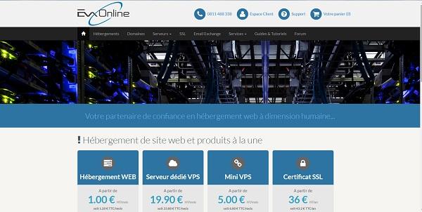 EvxOnline, un hébergeur français qui a le sens du service client.