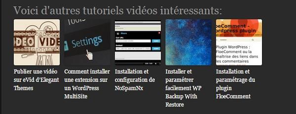 Le plugin WordPress related Posts affiche les articles similaires que vous souhaitez.