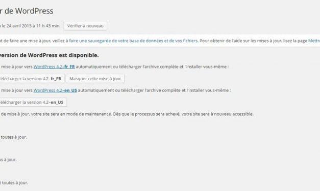 Mise à jour WordPress 4.2: prenez vos précautions!