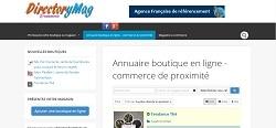 DirectoryMag: annuaire de boutiques en ligne françaises
