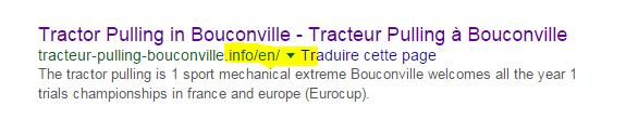 Référencement du site du tracteur pulling à Bouconville grâce à Weglot