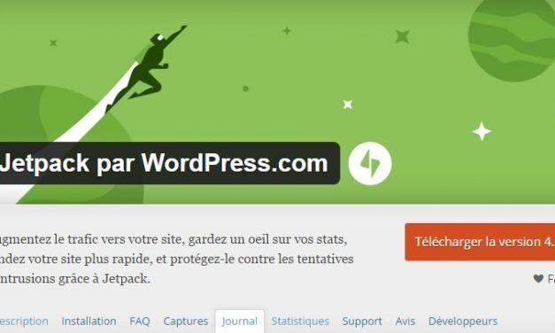 Erreur 500 causée par JetPack 4.0 pour WordPress