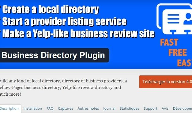 Modification de l'url de soumission du plugin Business Directory
