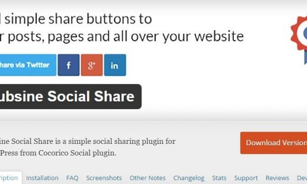 Hubsine Social Share: extension WordPress pour remplacer Cocorico Social