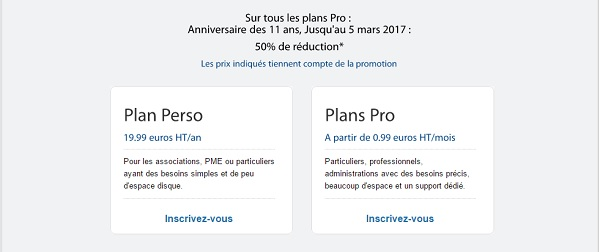 50% de remise sur les hébergements pros Archive Host jusqu'au 5 mars 2017