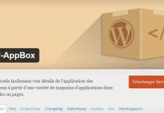 Extension d'affichage des principaux détails d'un plugin WordPress