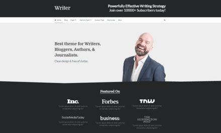 Thème premium WordPress pour écrivain