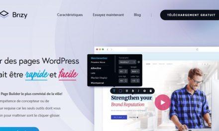Insérer et paramétrer un menu WordPress dans du contenu créé avec Brizy