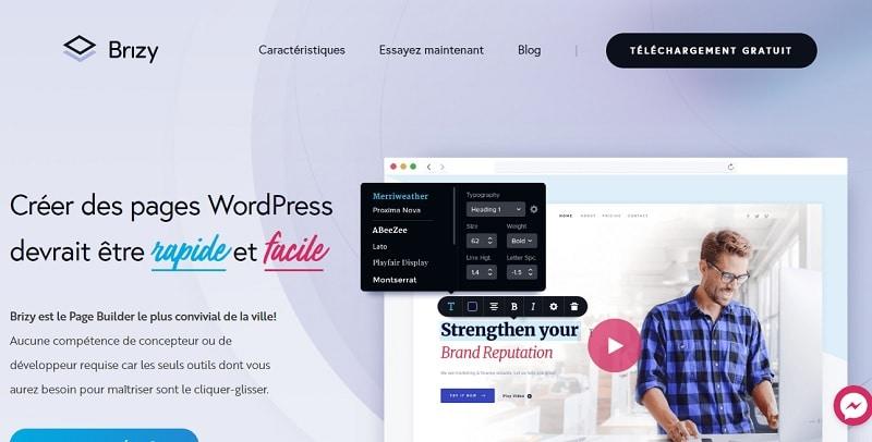 Brizy : constructeur de page WordPress très intuitif
