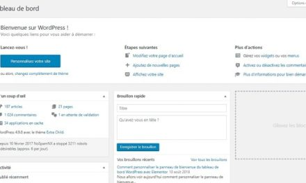 Comment personnaliser le panneau de bienvenue du tableau de bord WordPress avec Elementor
